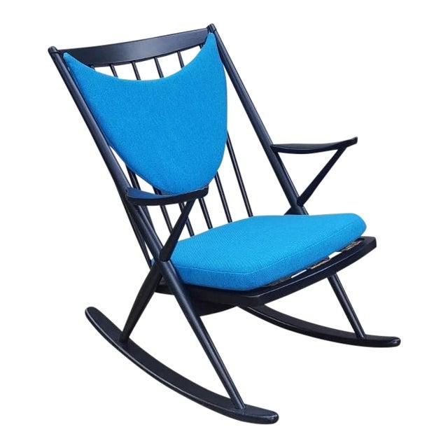 1960s Vintage Frank Reenskaug Danish Modern Bramin Rocking Chair For Sale