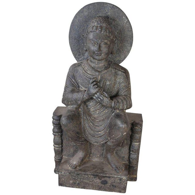 Granite Sitting Buddha, India, Early 1900s For Sale - Image 10 of 10