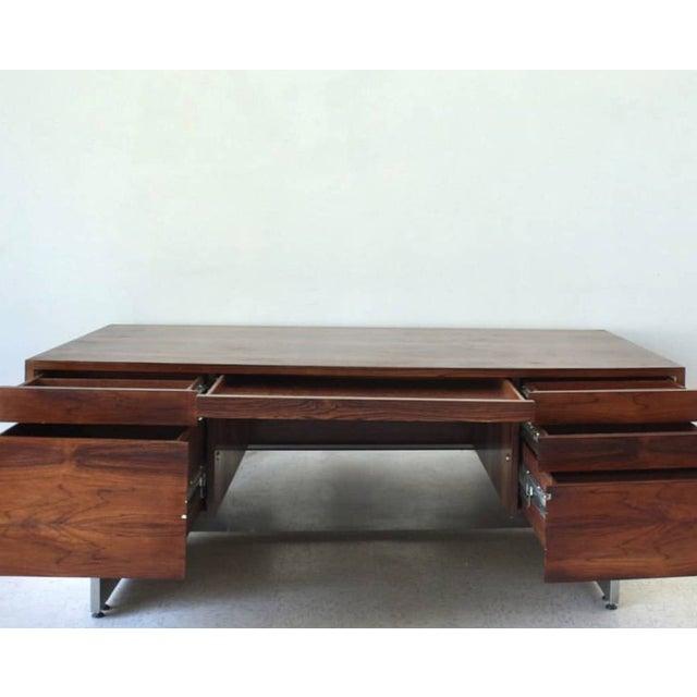 Milo Baughman Milo Baughman Executive Rosewood Desk For Sale - Image 4 of 4