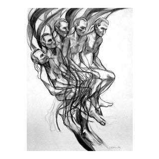 "Abstract Figurative Drawing, ""Jump"" For Sale"