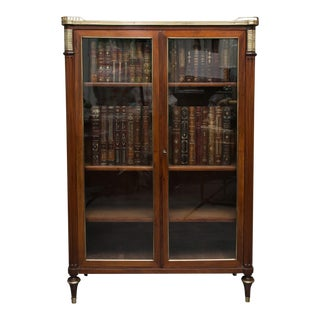 19th Century, Louis XVI Style Mahogany Bookcase For Sale