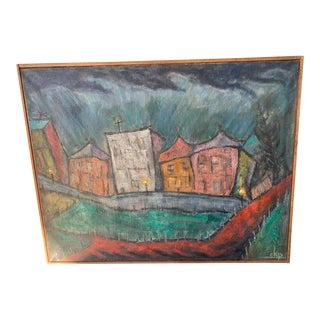 "CKP ""4 Am"" Framed Painting For Sale"