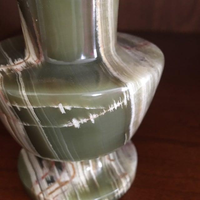 Green Malachite Stone Vase - Image 4 of 5