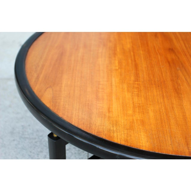 1960s Mid-Century Modern Baker Furnitue Round Coffee Table For Sale In Los Angeles - Image 6 of 13