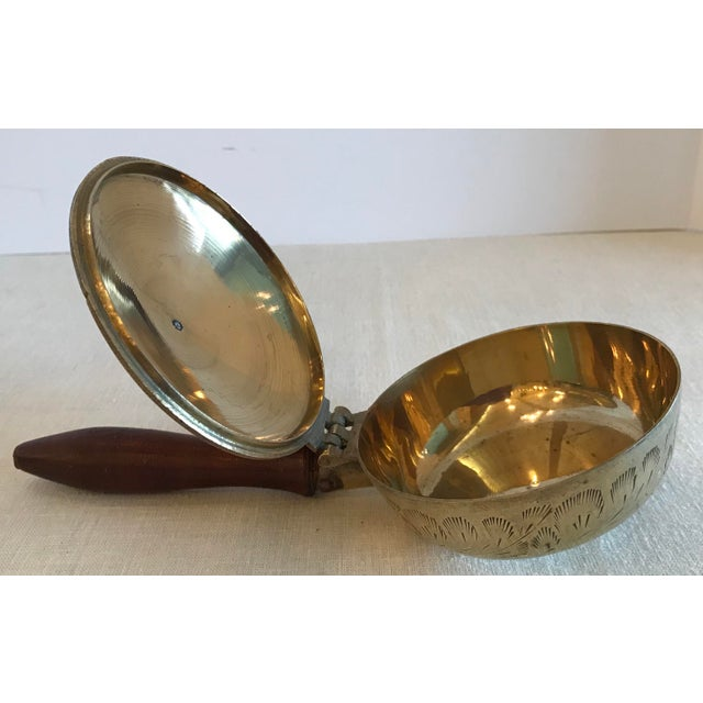 Brass Vintage Hinged Lid Brass Ashtray For Sale - Image 7 of 9