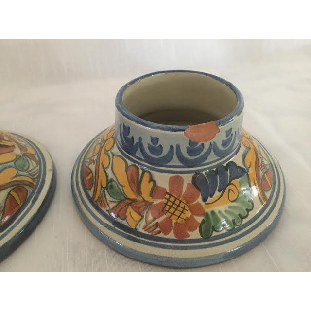 Vintage Talavera Hurricane Candleholders - a Pair For Sale - Image 9 of 10