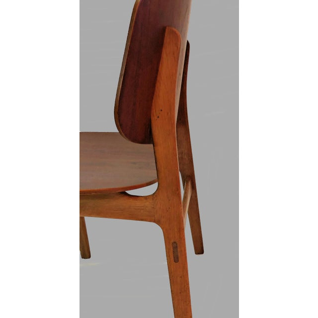 Wood Mid Century Borge Mogensen Shell Chairs- A Pair For Sale - Image 7 of 8
