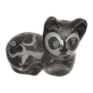 1970s Boho Chic Hand-Etched/Thrown Ceramic Cat Preview