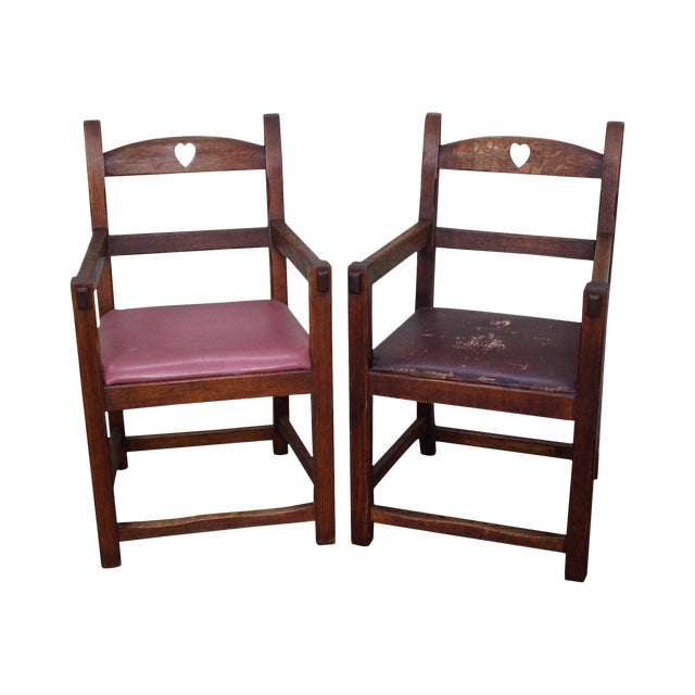 Antique Arts & Crafts Mission Arm Chairs - a Pair - Antique Arts & Crafts Mission Arm Chairs - A Pair Chairish
