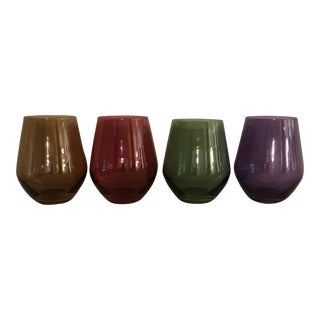 "Lenox ""Gems"" Stemless Wine Glasses- Set of 4"