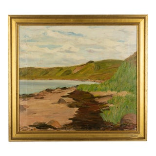 Danish Coastal Landscape Painting For Sale