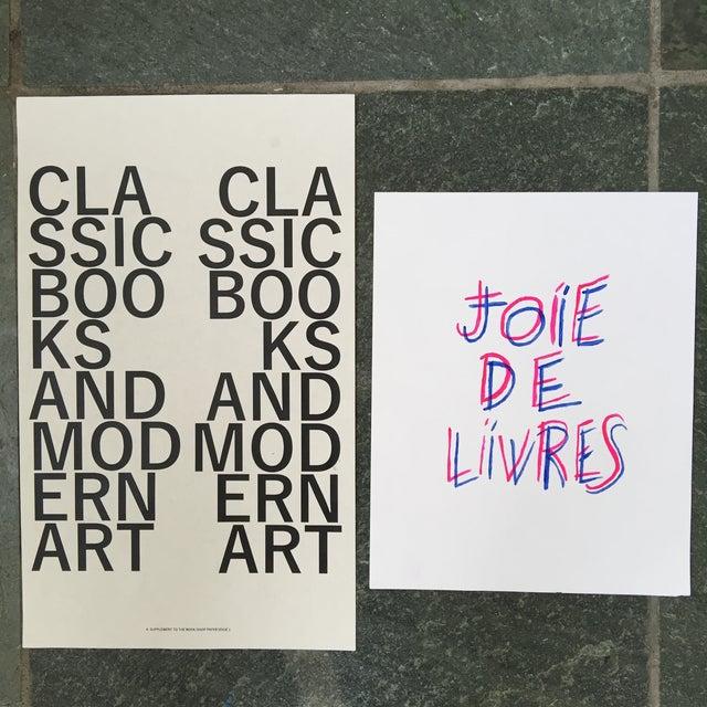 """Joie De Livres"" Modern Print - Image 4 of 5"