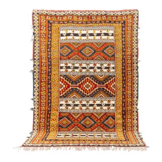 Vintage Mid Century Moroccan Berber Rug - 6'10'' X 10'2'' For Sale