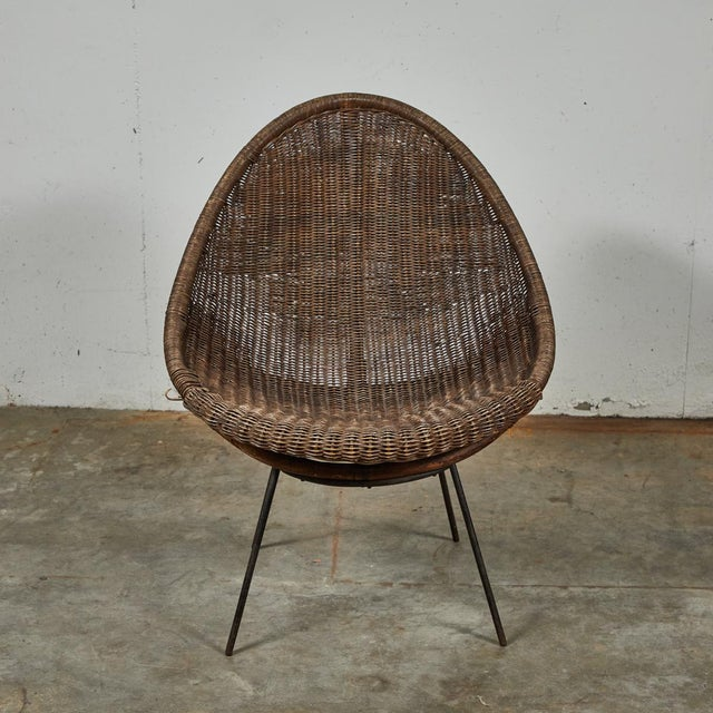 Mid-Century Bamboo and Rattan Chairs From France - a Pair For Sale - Image 9 of 11