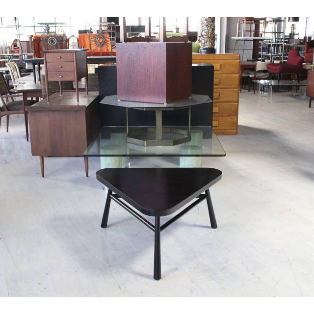 Nice mid century modern coffee table by Robsjohn Gibbings for Widdicomb in black lacquer.