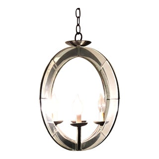 Mirrored Orb Chandelier For Sale