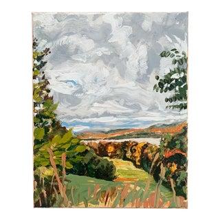 Autumn Landscape Oil on Panel For Sale