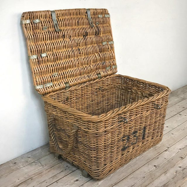Antique Wicker Basket For Sale - Image 9 of 13