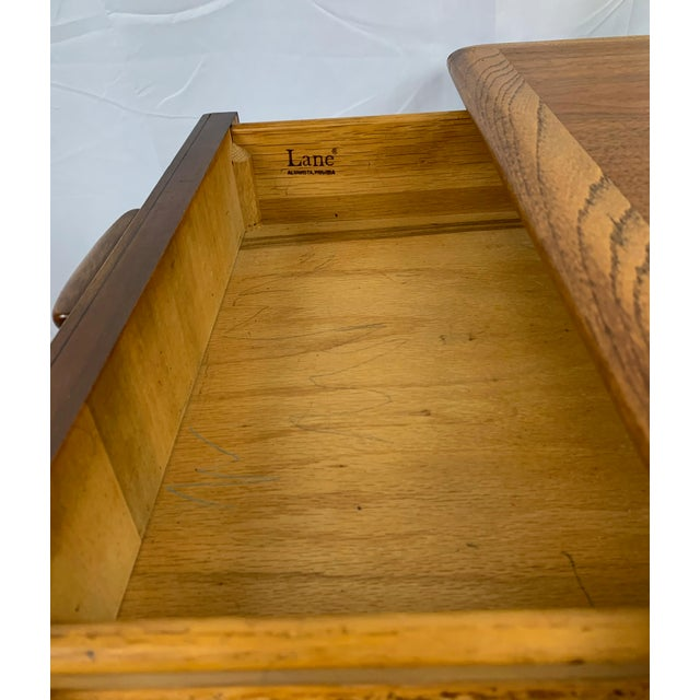 Wood 1960s Lane Perception Walnut End Table For Sale - Image 7 of 8