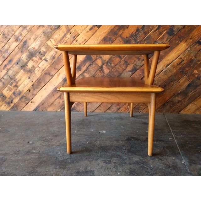 Mid-Century Walnut Lane 2 Tiered Side Table For Sale - Image 10 of 11