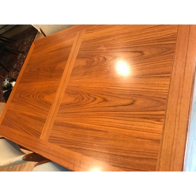 Mid-Century Modern Mid-Century Dining Table & Chairs by Skovby & o.d. Mobler - Set of 5 For Sale - Image 3 of 13