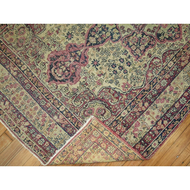 White 19th Century Lavar Kerman Rug, 4' x 6'4'' For Sale - Image 8 of 11