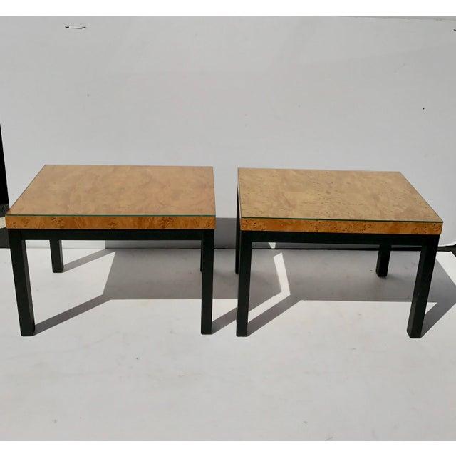 Milo Baughman Burl Wood Side/ End Tables - A Pair - Image 2 of 10
