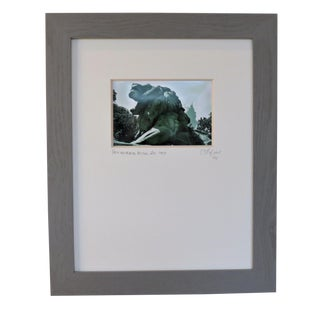 Taft Memorial Bridge Lion Guardians, Wdc. Custom Framed and Matted by C. Damien Fox For Sale