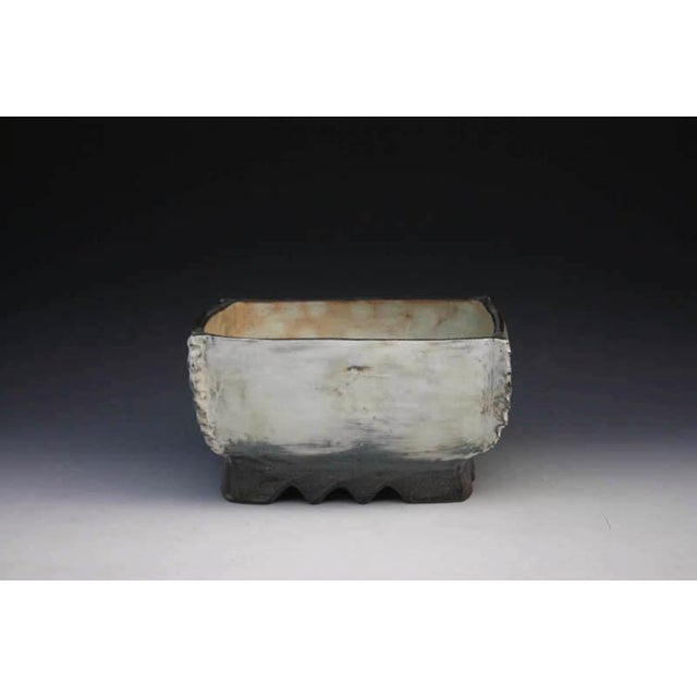 Contemporary Kang Hyo Lee, Pucheong Squared Bowl With Ash Glaze 2, Ca. 2012 For Sale - Image 3 of 3