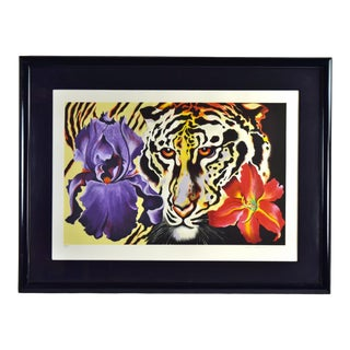 Lowell Blair Nesbitt Tiger Lily 1981 Signed Limited Edition Serigraph For Sale
