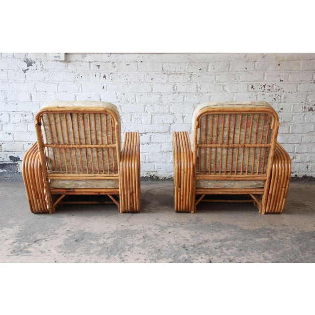 Bamboo Pretzel Chairs Attributed to Paul Frankl - A Pair For Sale - Image 9 of 10