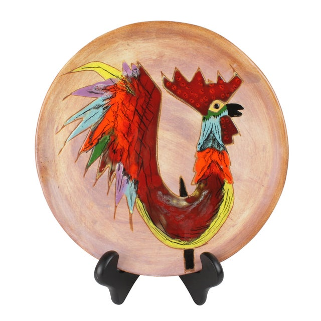 Mid-Century Modern Rooster Plate - Image 1 of 3