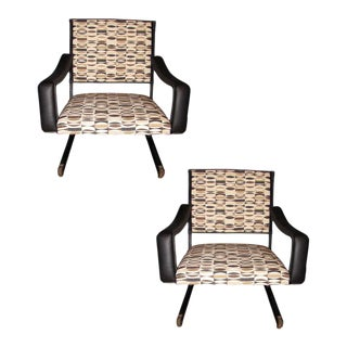 1950s Armchairs by Jacques Adnet - A Pair For Sale