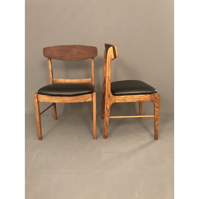 1960s Danish Modern Walnut Dining Chairs - a Pair For Sale - Image 10 of 10