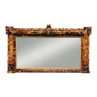 Tortoiseshell and Parcel-Gilt Overmantel Mirror