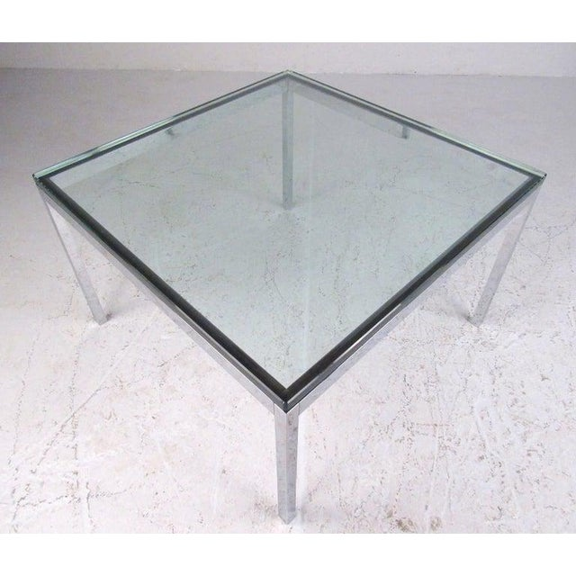 Mid-Century Modern Pair of Mid-Century Modern Chrome and Glass Coffee Tables For Sale - Image 3 of 11