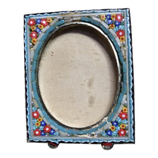 Antique Victorian Micro Mosaic Photo Frame