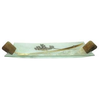 Ernest Sohn Mid-Century Modern Glass Tray For Sale