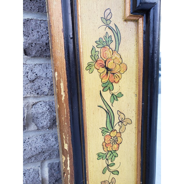 Vintage Italian Hand Painted Mirror For Sale - Image 9 of 13