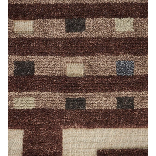 2010s Mansour Modern Handwoven Swedish Inspired Contemporary Wool Rug For Sale - Image 5 of 7