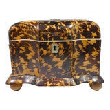 Image of 19th Century Tortoise Shell Tea Caddy For Sale
