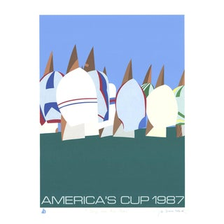 "1987 Vintage Franco Costa ""Keep Our Air Clean"" Signed Serigraph Print For Sale"