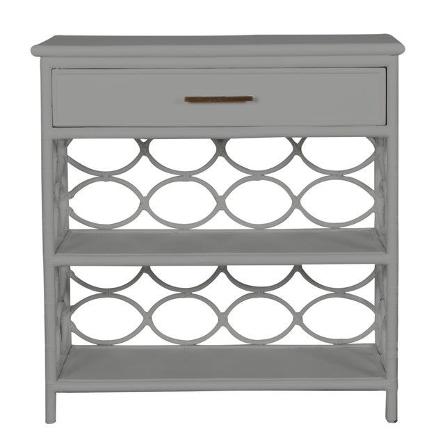 Coastal Infinity End Table - Light Gray For Sale - Image 3 of 7