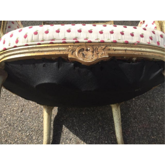 Vintage Mid Century French Style Bergere Chairs- a Pair For Sale - Image 11 of 12