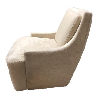 Barbara Barry Scoop Swivel Cowhide Chair for HBF