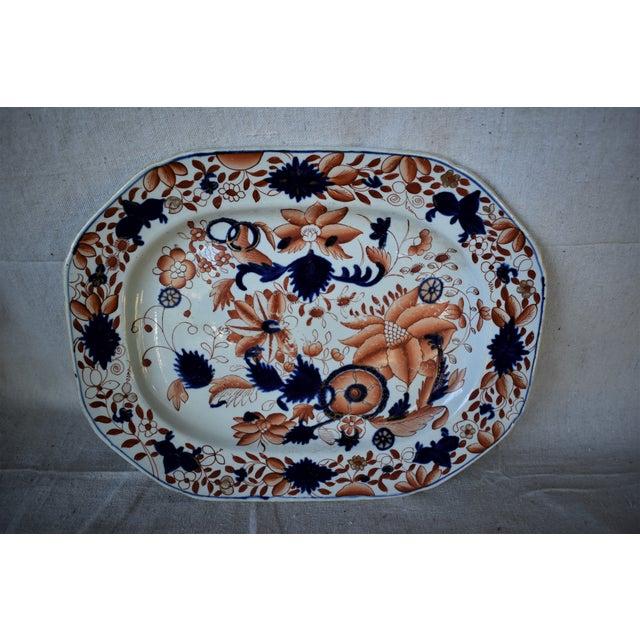 English Antique Mason's Ironstone Platter For Sale - Image 3 of 10