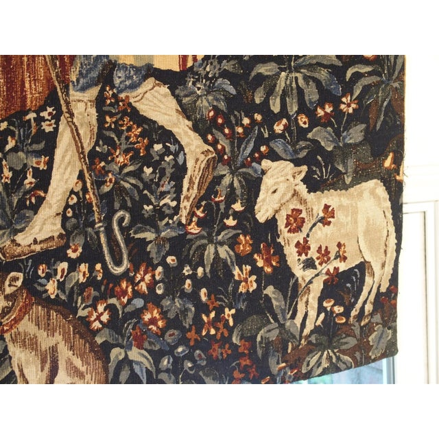 Medieval Style Tapestry from France, 20th Century For Sale - Image 4 of 12
