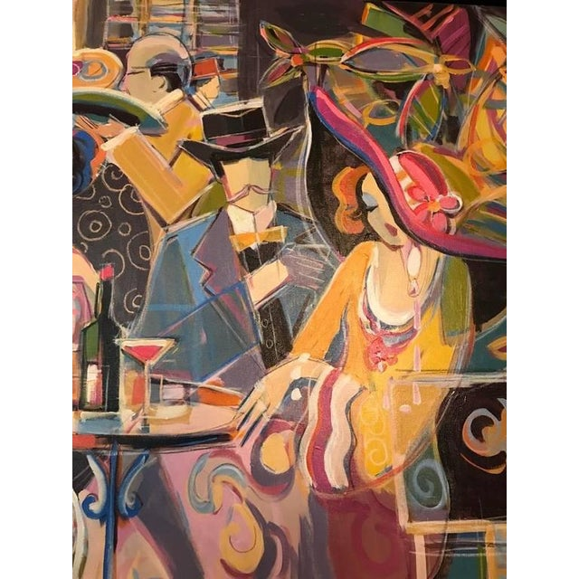 """Original Isaac Maimon Signed """"Sharing Great Times"""" For Sale In New York - Image 6 of 10"""