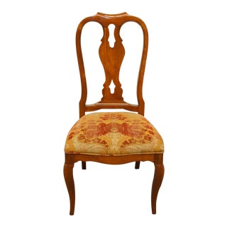 Late 20th Century Vintage Ethan Allen Maison Collection Splat Back Dining Side Chair For Sale