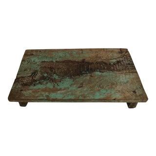 Vintage Rustic Painted Breadboard/ Tray